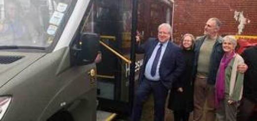 Sir Patrick McLoughlin showing his support for community minibuses across the UK